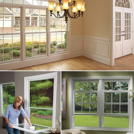 Double hung window tab